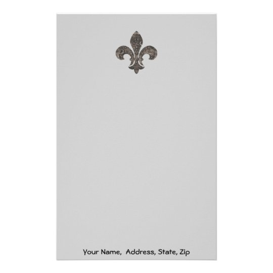 Fleur De Lis Water Metre Lid, Name address