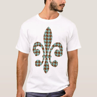 fleur de lis with houndstooth T-Shirt