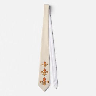 Fleur de Lis with rainbow shading Tie