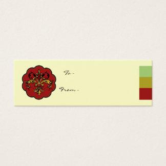 Fleur de lis Xmas Mini Business Card
