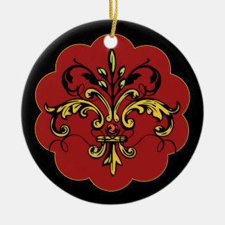 Fleur de lis Xmas - red Christmas Ornament