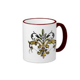 Fleur de lis Xmas Ringer Mug