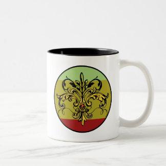 Fleur de lis Xmas Two-Tone Mug