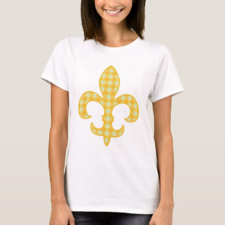 Fleur de lis Yellow Gingham tank top