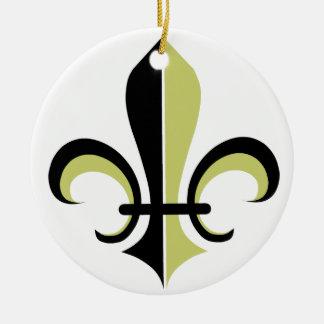 Fleur De Lys Christmas Ornament