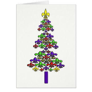 Fleur de Lys Christmas Tree Card