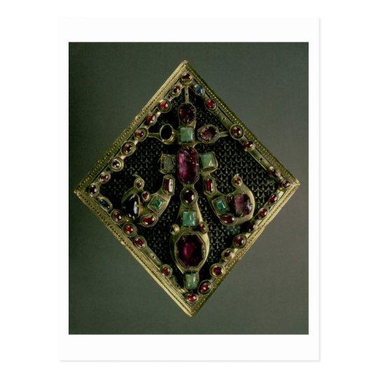 Fleur-de-lys clasp traditionally said to have belo postcard