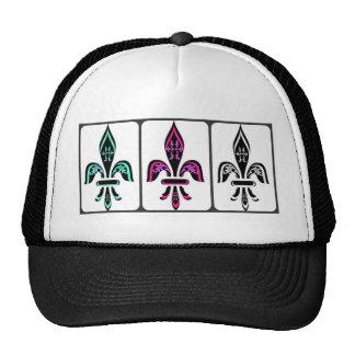 FLEUR DE LYS COLLAGE PRINT CAP