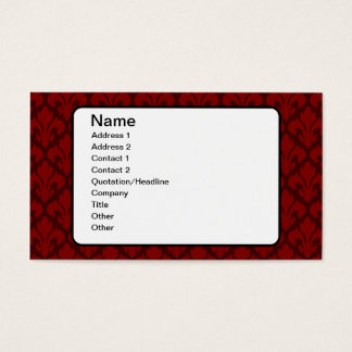 Fleur-de-Lys Deep Red Business Card