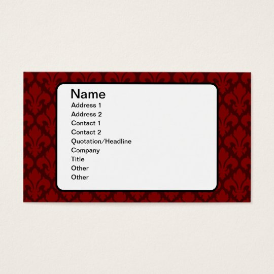 Fleur-de-Lys Deep Red Business Card