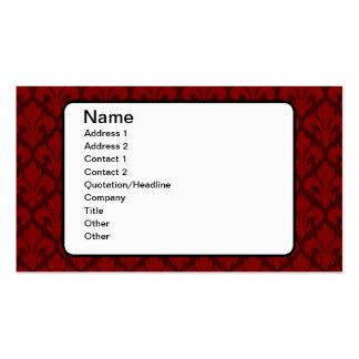 Fleur-de-Lys Deep Red Pack Of Standard Business Cards