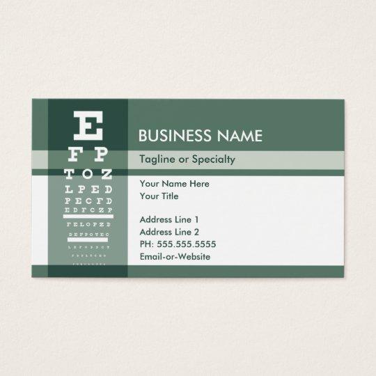 fleur de lys eye test business card