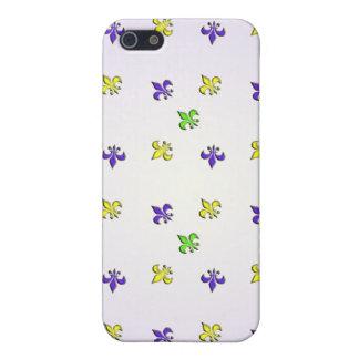 Fleur De Lys Mardi Gras Colors iPhone 5 Case