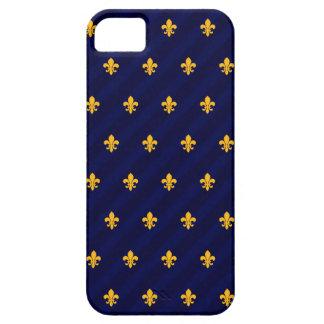 Fleur de Lys Orange-Blue iPhone 5 Cases