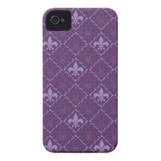 Fleur de lys purple blackberry bold case