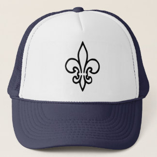 Fleur de lys trucker hat