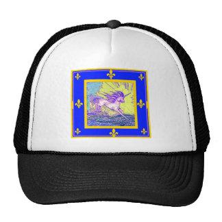 Fleur de Lys Unicorn by Sgarles Mesh Hat