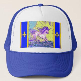 Fleur de Lys Unicorn by Sgarles Trucker Hat