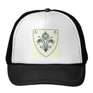 FLEUR DE LYS VINTAGE SHIELD PRINT MESH HATS