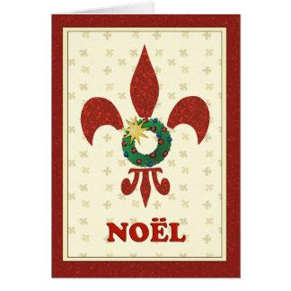 Fleur de Lys Wreath Noel Greeting Card