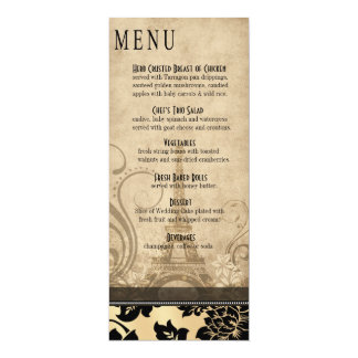 Fleur de Paris Eiffel Tower Dinner Menu | sand 10 Cm X 24 Cm Invitation Card