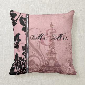 Fleur de Paris   pink Mr. & Mrs. Pillow