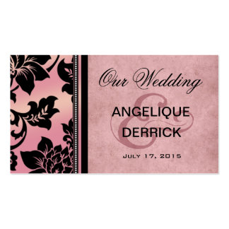 Fleur de Paris Wedding Website | pink Business Card