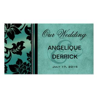Fleur de Paris Wedding Website | teal Business Card Templates