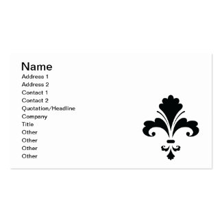 FLEUR DELIS4 Floral Design graphics black white Business Card Template