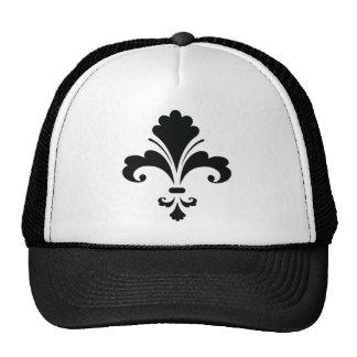 FLEUR DELIS4 Floral Design graphics black white Trucker Hat