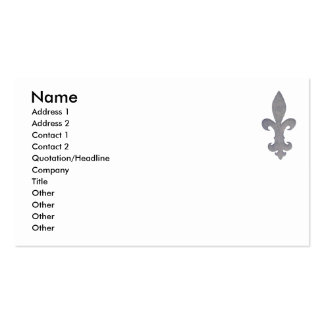 Fleur di lis business card... pack of standard business cards
