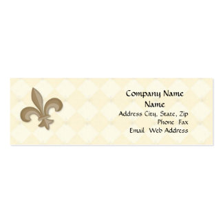 Fleur Di Lis Profile Card Business Cards