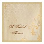 Fleur di Lys Damask 2 Cream - Wedding Invitation