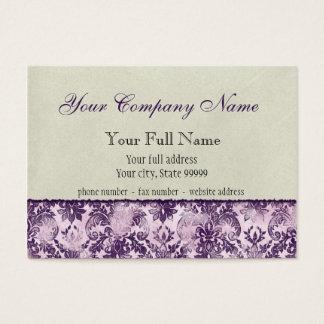 Fleur di Lys Damask Lilac Business Cards