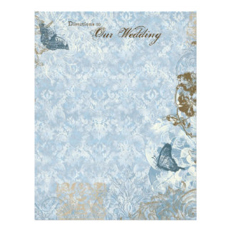 Fleur di Lys Damask - Stationery Wedding 21.5 Cm X 28 Cm Flyer