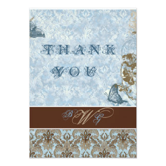 Fleur di Lys Damask vs2 - Thank You Notes Cards