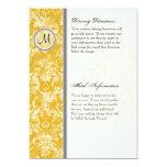 Fleur di Lys Mustard Driving Directions Hotel Info 13 Cm X 18 Cm Invitation Card