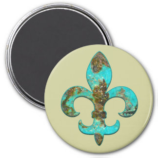 Fleur Faux Stone 1 7.5 Cm Round Magnet