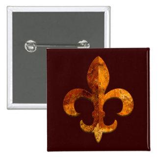 Fleur Faux Stone 2 15 Cm Square Badge
