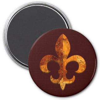 Fleur Faux Stone 2 7.5 Cm Round Magnet