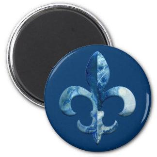 Fleur Faux Stone 5 6 Cm Round Magnet