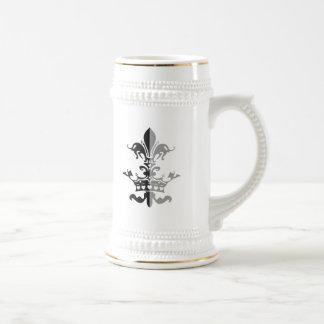 Fleur Heart Crown - Black Beer Steins