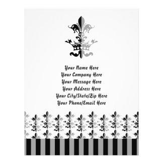 Fleur Heart Crown - Black Personalized Flyer