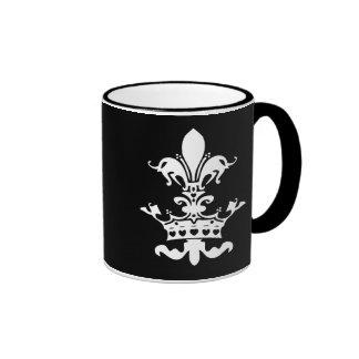 Fleur Heart Crown - Black Ringer Mug