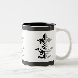 Fleur Heart Crown - Black Two-Tone Mug