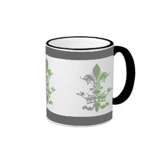 Fleur Heart Crown - Green Ringer Mug