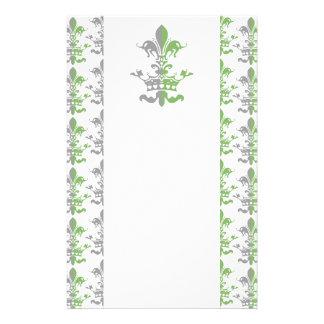 Fleur Heart Crown - Green Stationery