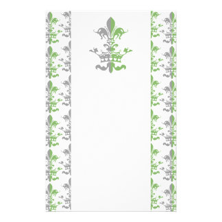 Fleur Heart Crown - Green Stationery Paper
