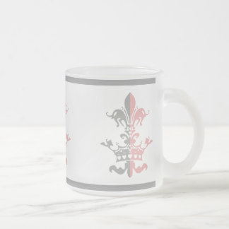 Fleur Heart Crown - Pink Frosted Glass Mug