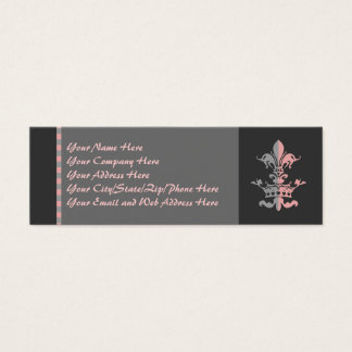 Fleur Heart Crown - Pink Mini Business Card